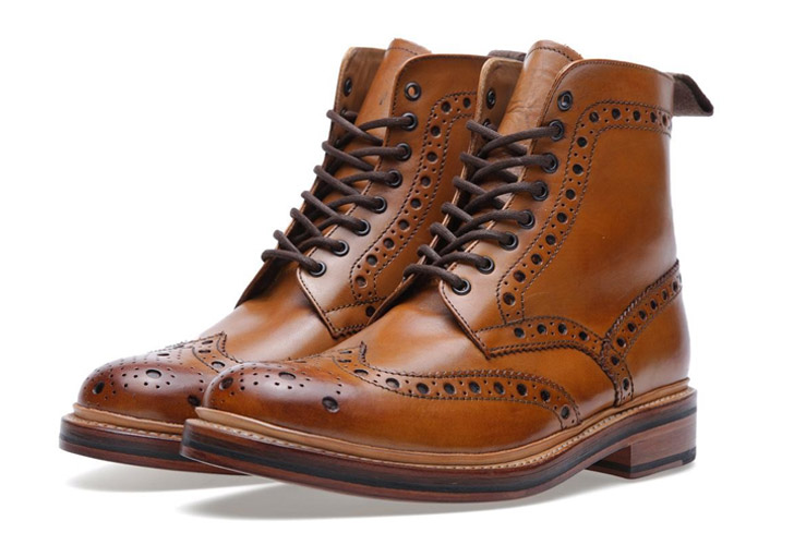 grenson fred brogue boot