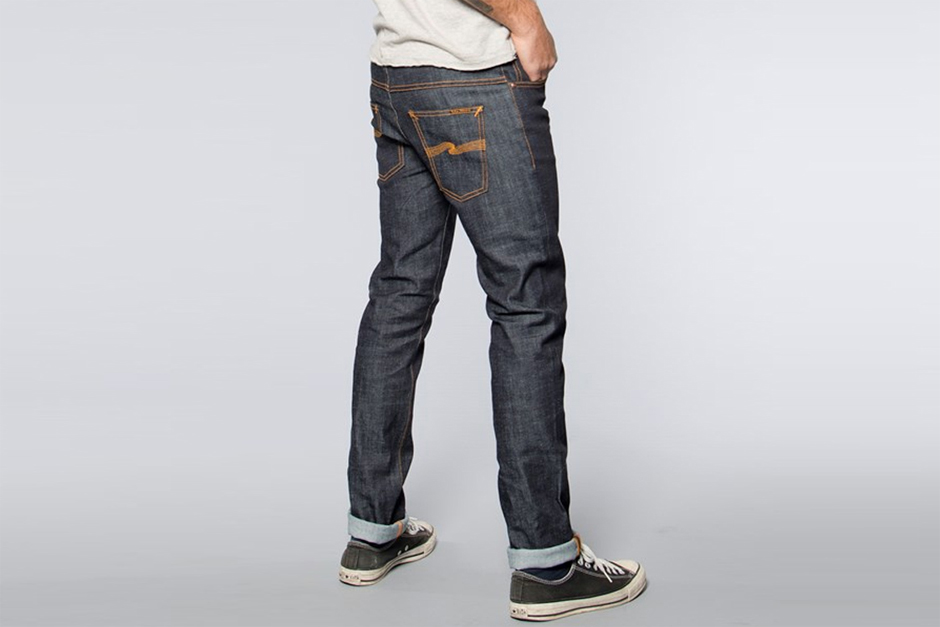raw denim jeans