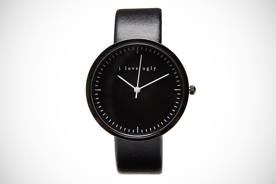 I Love Ugly Classic Black On Black Watch