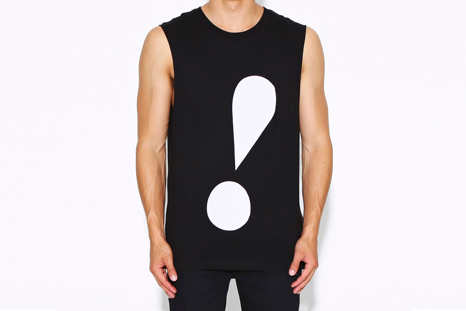 cheap monday exclamation point muscle tank