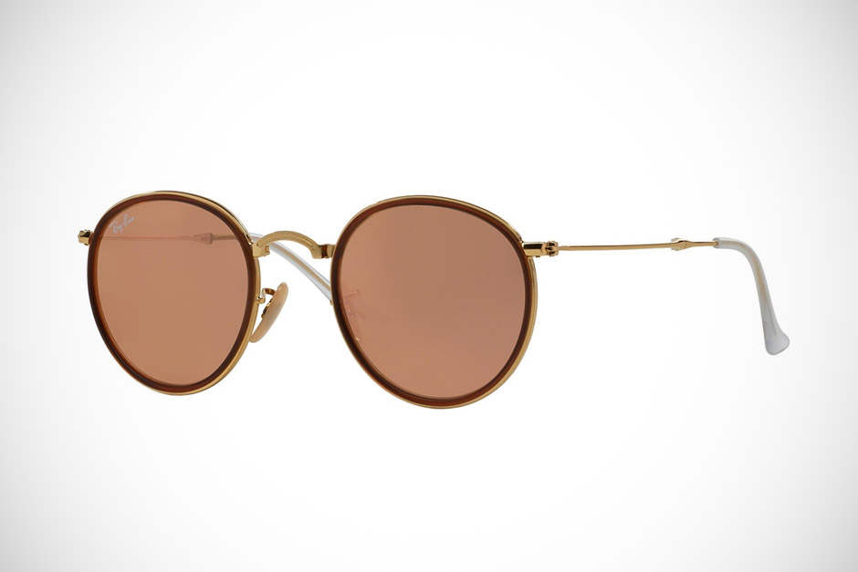 Ray-Ban Round Folding Flash