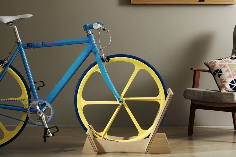 Wooden Bike Rack