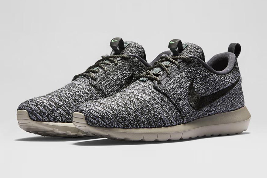 Nike Flyknit Roshe Run Wolf Grey & Sequoia