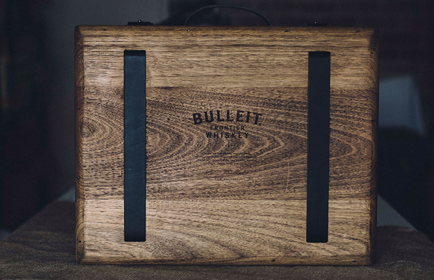 Tasty Whiskey in Wood Briefcase