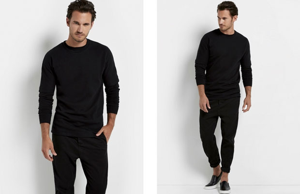 Black outfit jumper