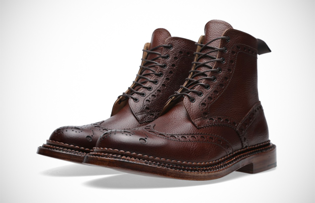 Dark Brown Country Grain Leather Boots