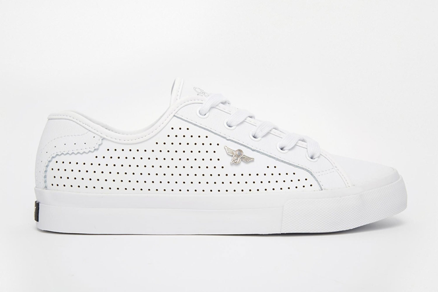 perforated leather sneaker