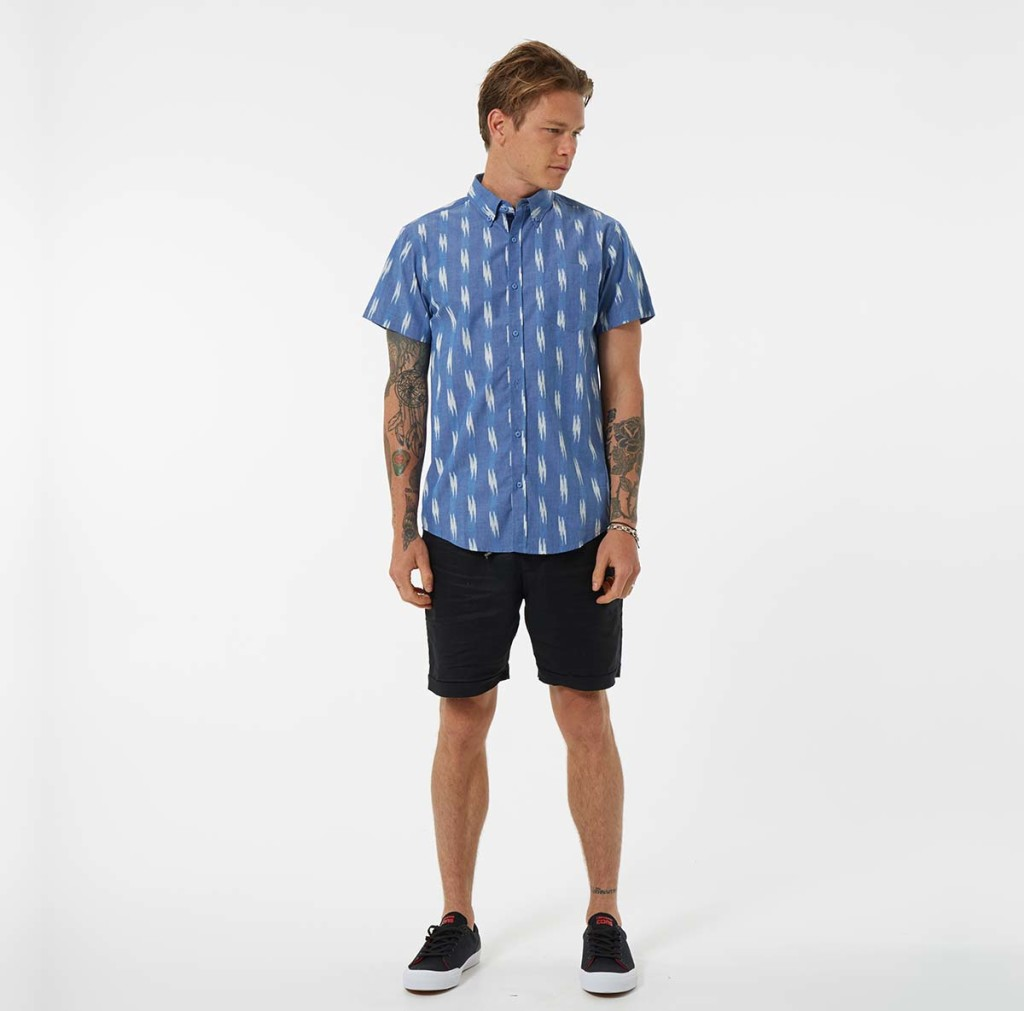 MR-SIMPLE-WHEATLEY-SHORT-SLEEVE-SHIRT-BLUE-MEGA-SLUB-STYLED