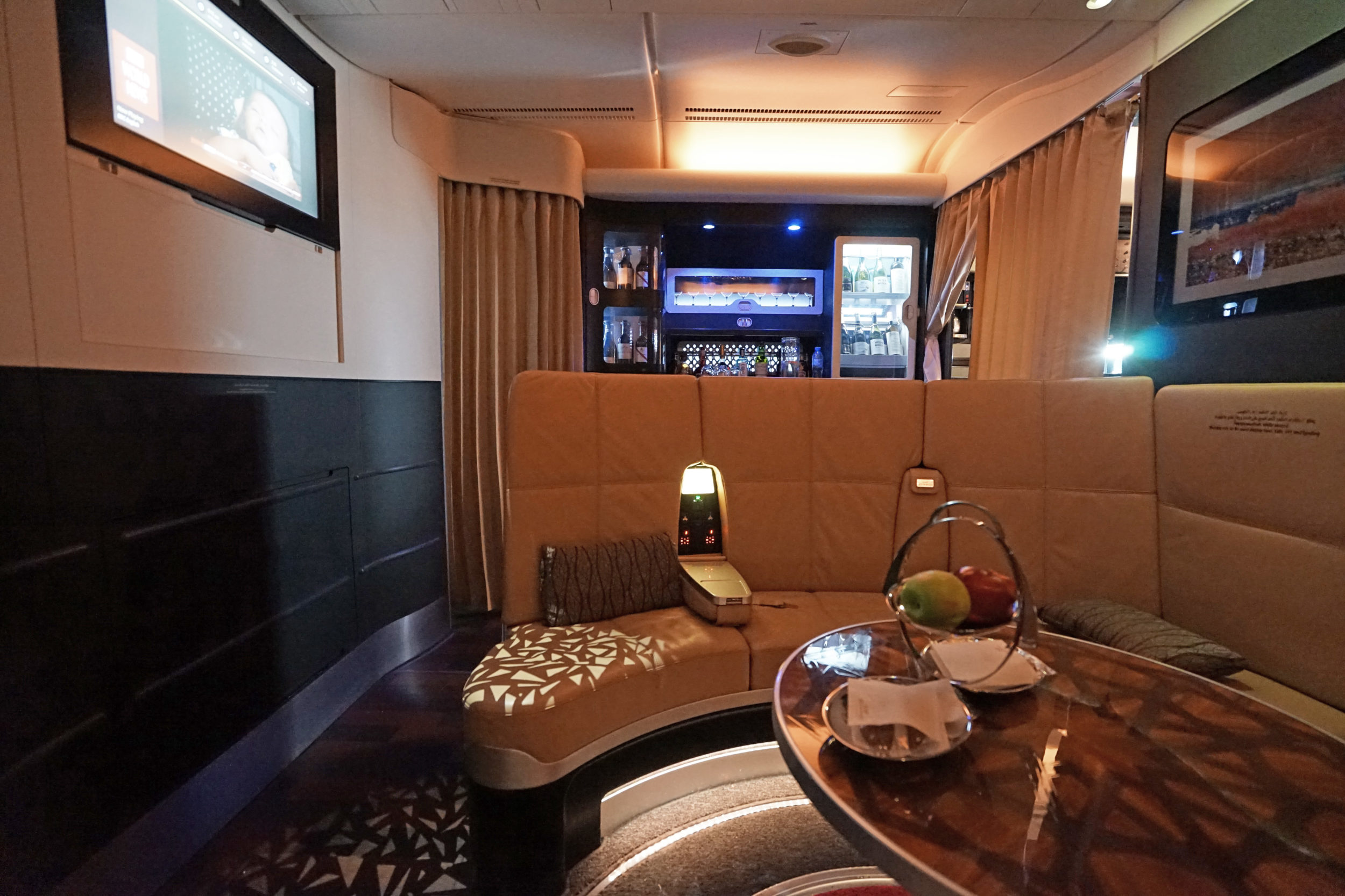 Etihad Airways onboard Lounge