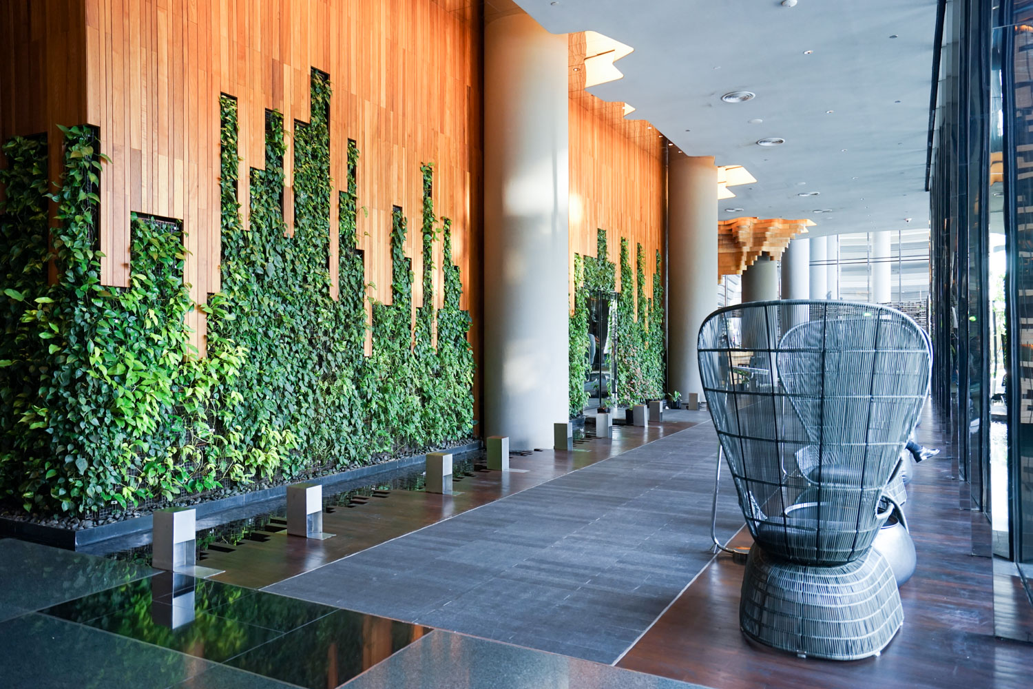 Parkroyal on pickering review a well designed for Sustainable hotel design