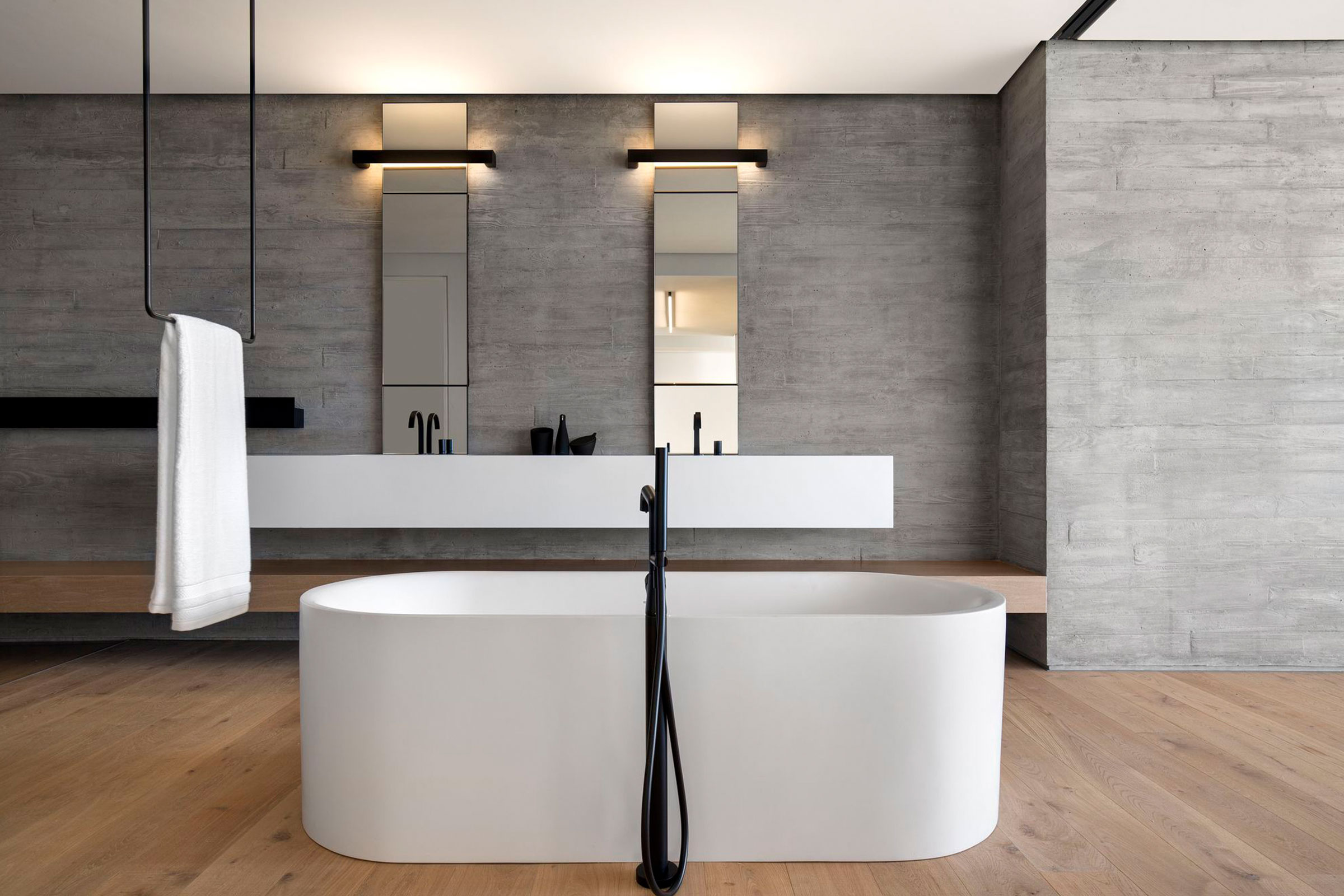 5 sleek minimal bathroom designs for Design minimal