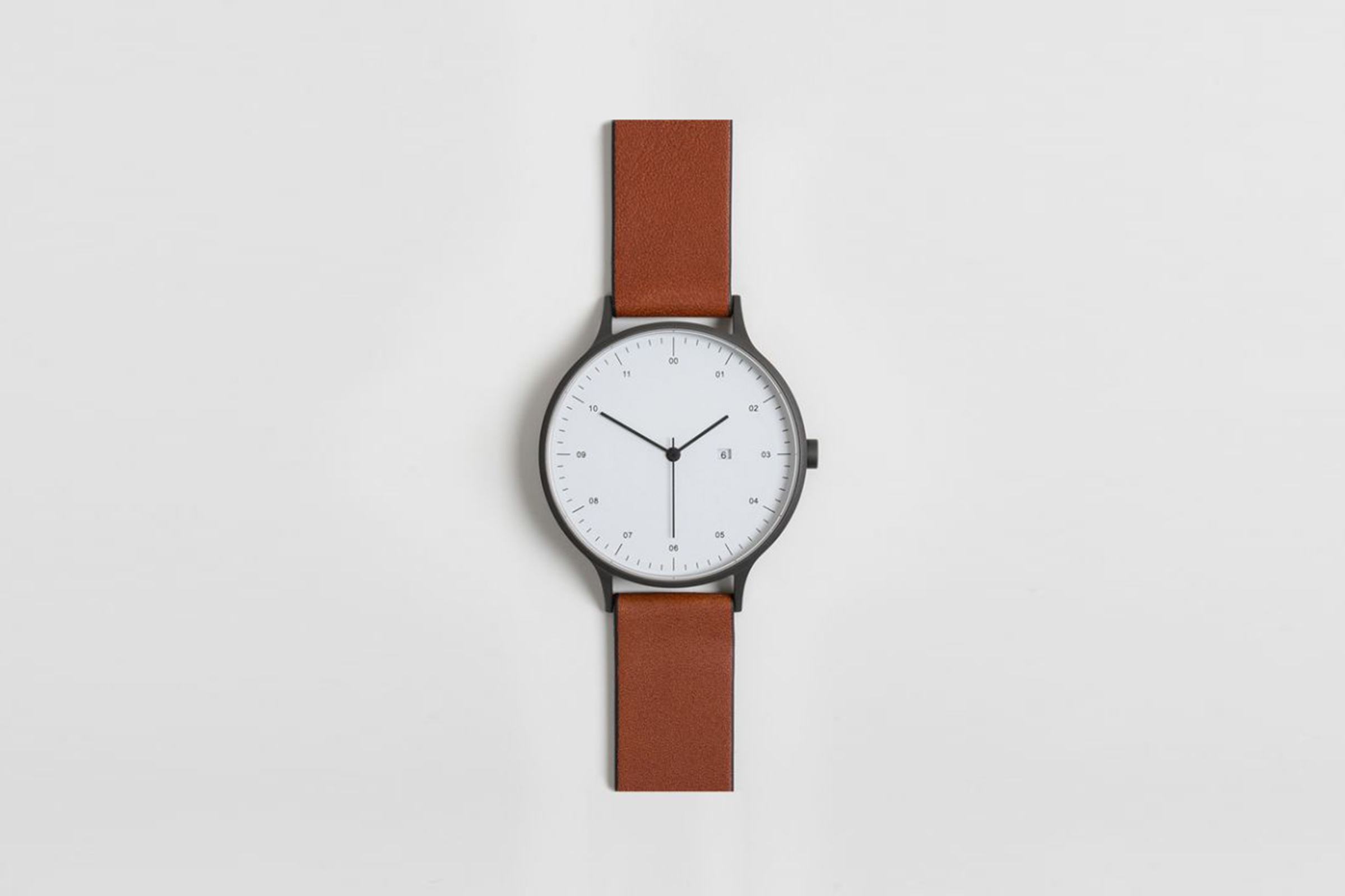 s men calvin mens leather post silver watch klein watches minimal dial