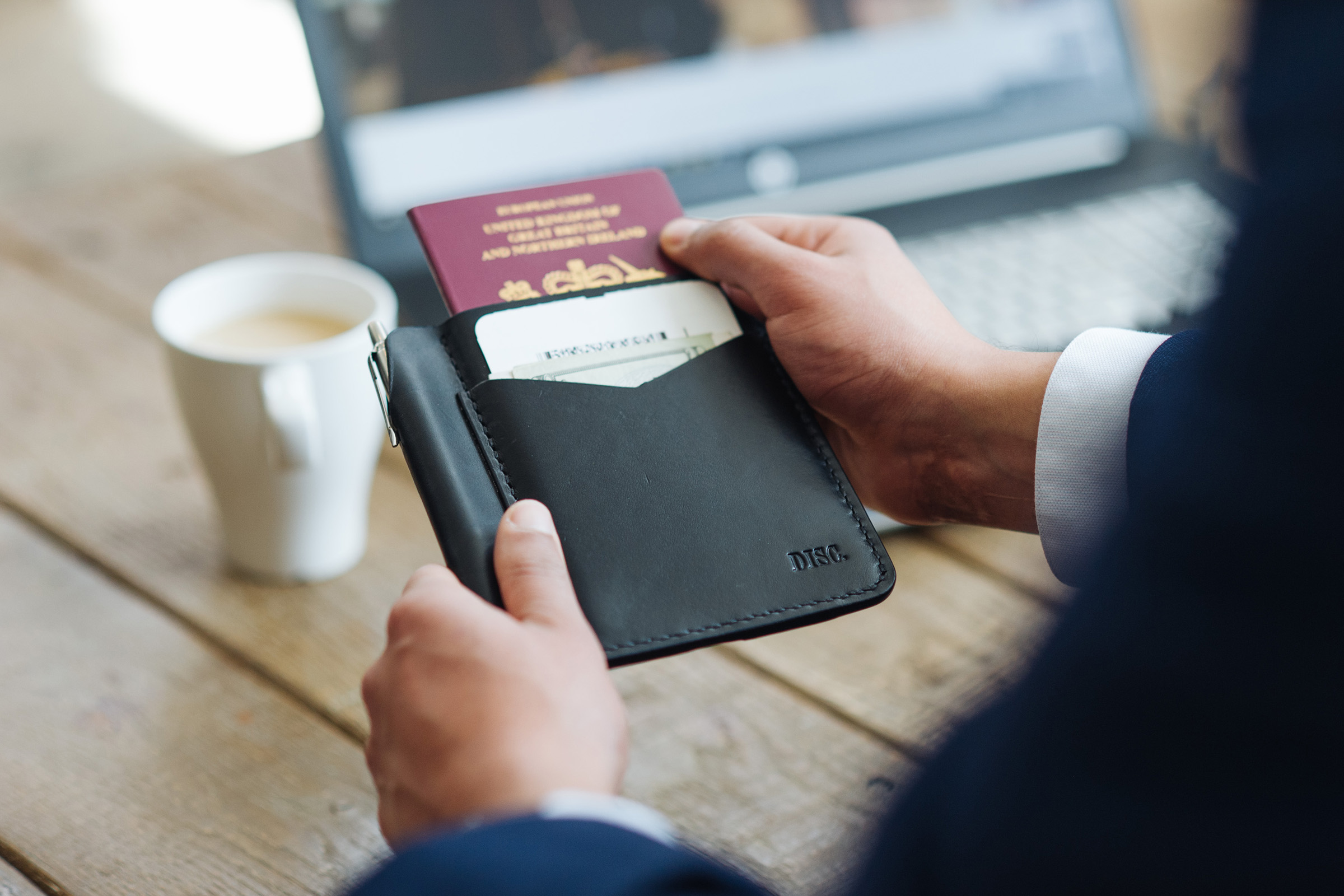 A Minimalist Passport Wallet For All Your Travel Essentials | Disc Brand Co.