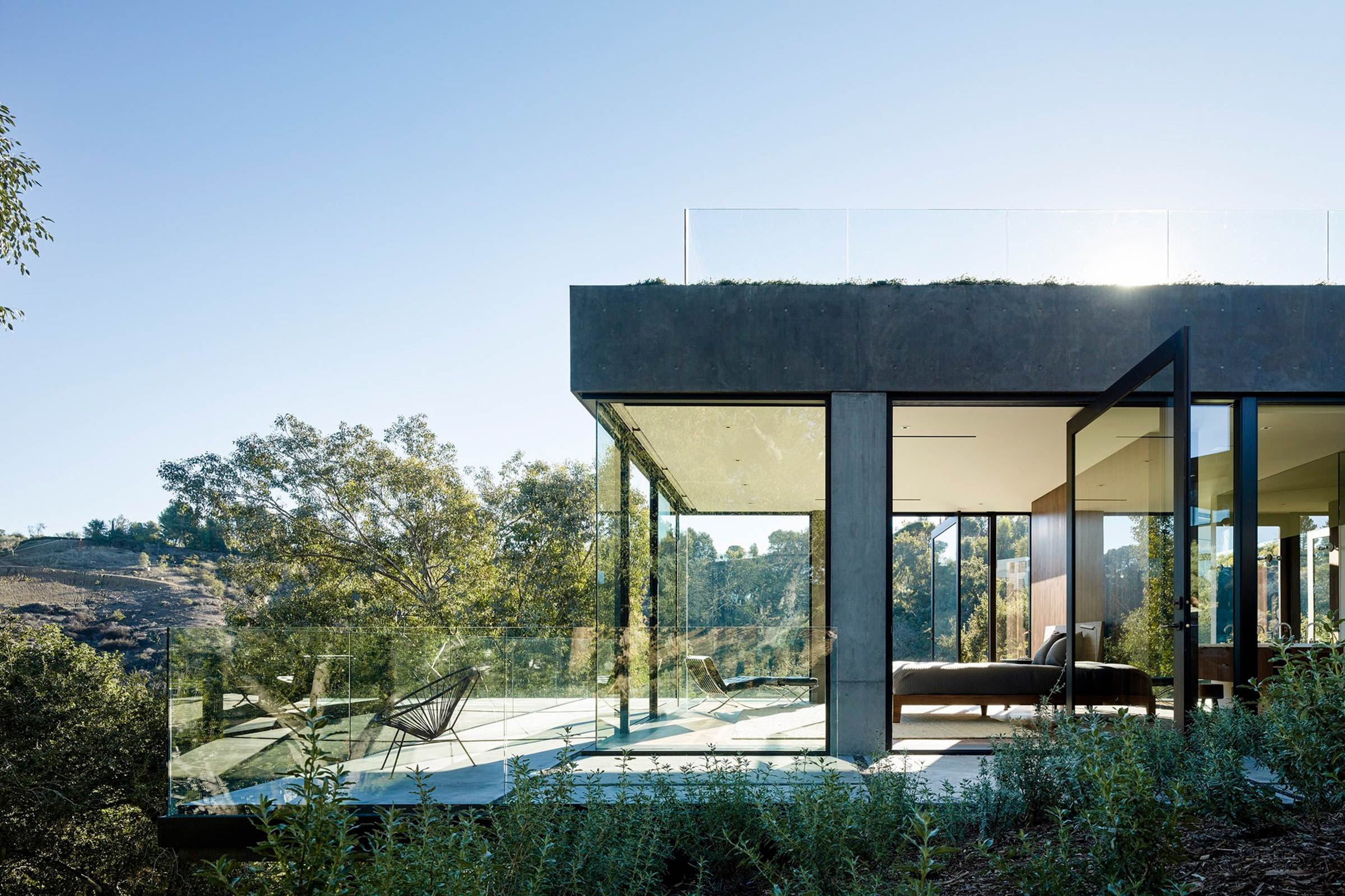 concrete house in beverly hills