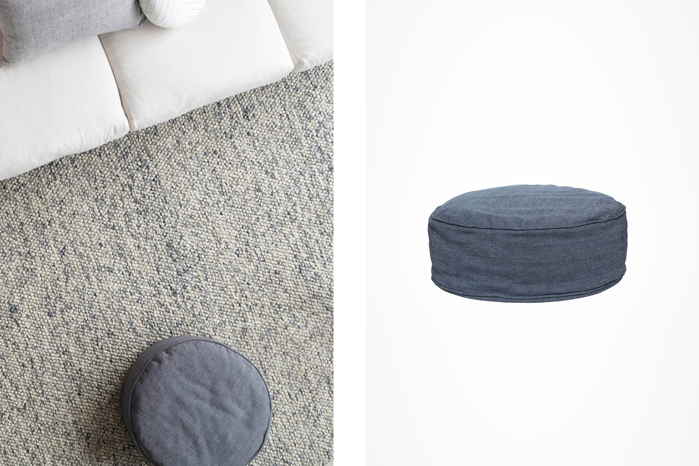 Home Gift Guide - Milk & Sugar - Woven Floor Ottoman