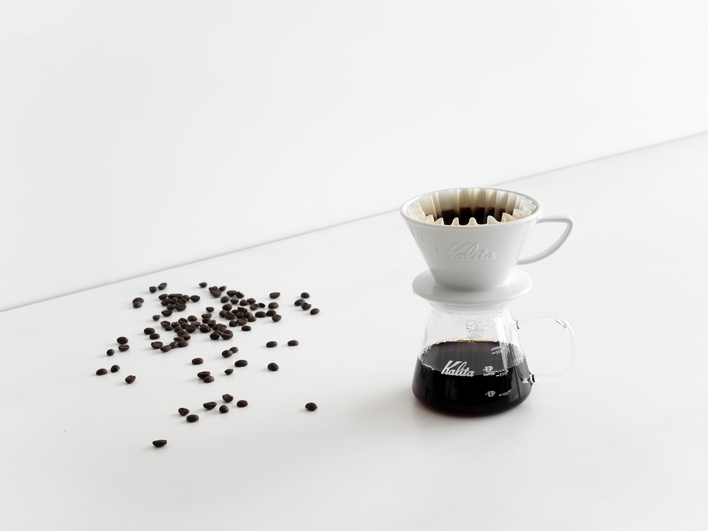 Guide To Pour Over Coffee | How To Make Pour Over Coffee - HEY GENTS Magazine - Kalita Filter Cone and Glass Server