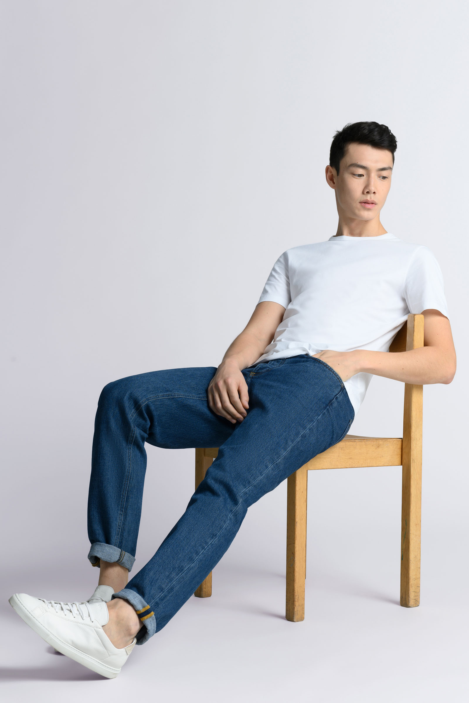 New Washed Denim Jeans & Off-White Essentials from Asket