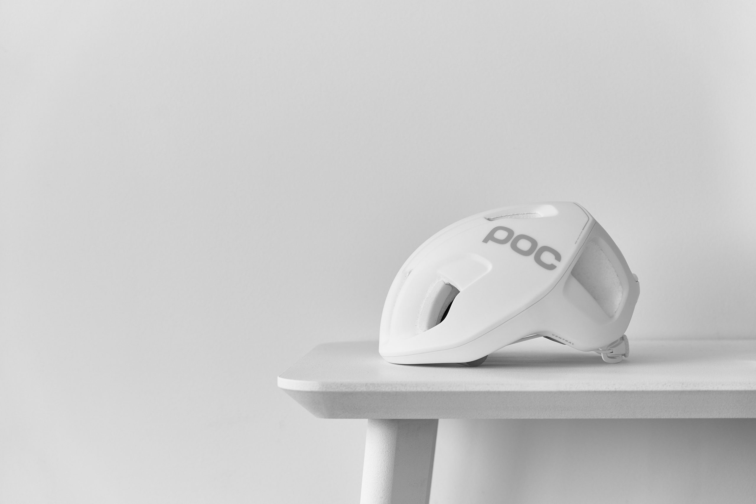 Well-Designed, Minimalist Cycling Kit & Accessories - POC Ventral Spin Helment Shite Matte